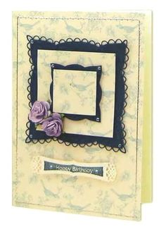 Card Making Project - Blue Bird and Lilac Roses Card