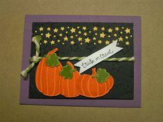 Stampin' Kat: Great Pumpkin Starry Night