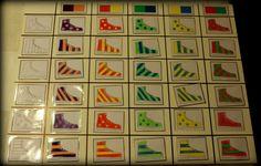 Matrix schoenen/kousen Shapes, Holiday Decor, Art, Logic Games, Shoe, Child, Africa, Craft Art, Kunst