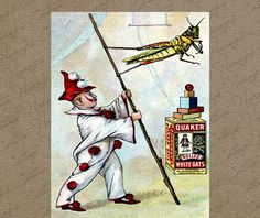 Vintage Digital Graphics Instant Download Quaker by nannyscottage, $2.00