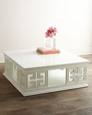 BEAUTIFUL JONATHAN ADLER WHITE LACQUER SQUARE COFFEE TABLE