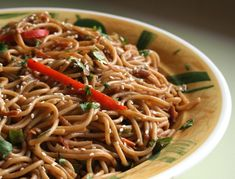 Cold Peanut Noodles So good I gave myself a tummy ache. Can serve room temp or cold, can cook noodles ahead of time - good for summer. TNT recipes, best of the best, 5 stars