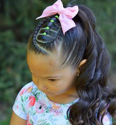 57 Cool Braids for Kids 2020 - Mr Kids Haircuts Little Girls Ponytail Hairstyles, Little Girl Ponytails, Kids School Hairstyles, Short Curly Hairstyles For Women, Little Boy Haircuts, Haircut Styles For Women, Girls Short Haircuts, Cute Hairstyles For Kids, Short Haircut Styles