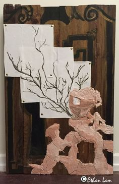 Acrylic on wood, 2014 This artwork symbolizes the decay and regrowth on the out skirts on the human persona but within the inner self there is always an strand on continuity that remains behind. Decay, Artworks, Personality, Flora, Texture, Medium, Natural, Wood, Illustration
