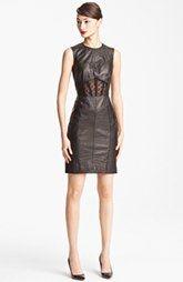 Jason Wu Embossed Leather Sheath Dress