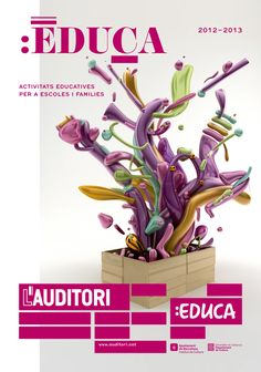 L'Auditori de Barcelona new campaign:    New campaign for the Auditori de Barcelona. New graphics that becomes the upper structure of the building and its own creative concept based on the idea of the building as a Jack-in-the-box.   Art direction and design by toormix, Illustrations by Serial Cut