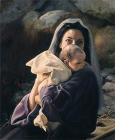 """Liz Lemon Swindle sees """"Be It Unto Me"""" as a celebration of Mary as much as Jesus. """"She was about 14 years old, just a child when told she would give birth to the Savior. But all she said was, 'Be it unto me' (Luke You have to honor that kind of faith. Blessed Mother Mary, Blessed Virgin Mary, Jesus Mother, Liz Lemon Swindle, Pictures Of Mary, Baby Jesus Pictures, Jesus Pics, Lds Pictures, Church Pictures"""