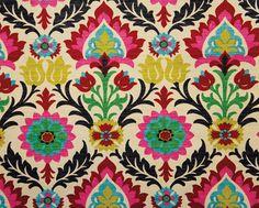Waverly Santa Maria Desert Flower Suzani Blooms Fabric - eclectic - fabric - Hancock's of Paducah