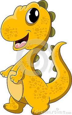 Cute Yellow Dinosaur Cartoon - Download From Over 36 Million High Quality Stock Photos, Images, Vectors. Sign up for FREE today. Image: 30892260