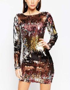 ASOS Night - Mini robe effet dégradé avec ornements