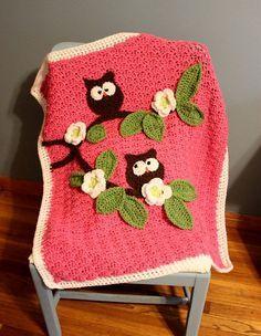 Crochet Nursery Owls Ripple Blanket with Free Pattern - Page 2 of 2 -