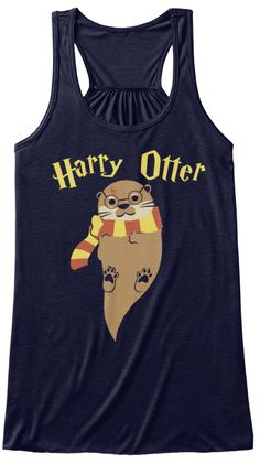 Harry Otter Midnight T-Shirt Front