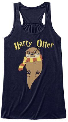 Harry Otter Midnight T-Shirt Front