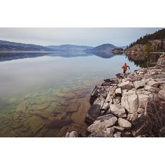 Trail running at Ellison Provincial Park, ocated just outside of Vernon on Okanagan Lake.