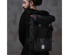 Black Backpack City Backpack Travel Backpack Man par WRBLStore