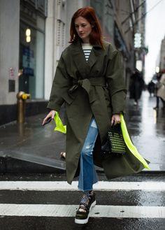 Street style at New York Fashion Week Fall 2017