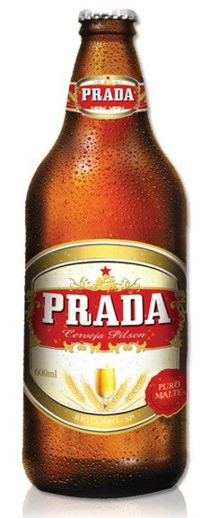 Cerveja Prada Pilsen, estilo Standard American Lager, produzida por Cervejaria Prada, Brasil. 4.5% ABV de álcool.