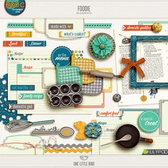 Foodie Elements - perfect to scrap about our food network obsession!!
