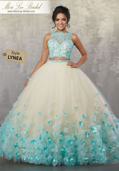 - - Zweiteiliges Quinceanera-Kleid mit Blumenmuster von Mori Lee Vizcaya Lee Vizcaya-AB … – Quinceañera Dresses – Source by Pretty Prom Dresses, Sweet 16 Dresses, Cheap Evening Dresses, Cute Dresses, Beautiful Dresses, Quencenera Dresses, Princess Prom Dresses, Chiffon Dresses, Dresses For 15