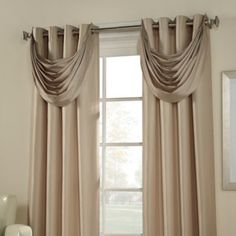 Product Image for Argentina Room Darkening Waterfall Valance 1 out of 1 Curtains And Draperies, Home Curtains, Window Curtains, Blackout Curtains, Kitchen Curtains, Curtain Styles, Curtain Designs, Pelmet Designs, Living Room Decor Curtains