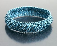 Blue Bracelet Bangle | DWD - Jewelry on ArtFire