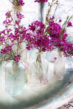 For simple and elegant flower arrangement, use one color #diyflowers #radiantorchid #centerpiece