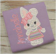 Spring Bunny Girls Pajamas - Monogramming Available