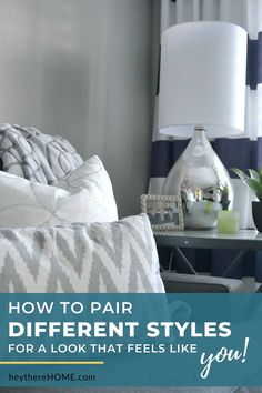 Having trouble mixing decor styles and getting a look you love? Follow these 4 practical tips for mixing decorating styles so you can blend multiple styles or incorporate you and your husband's style for a look you both love. Decorating On A Budget, Interior Decorating, Interior Design, Home Decor Inspiration, Decor Ideas, Diy Ideas, Room Ideas, Diy Home Decor Projects, Home Decor Styles