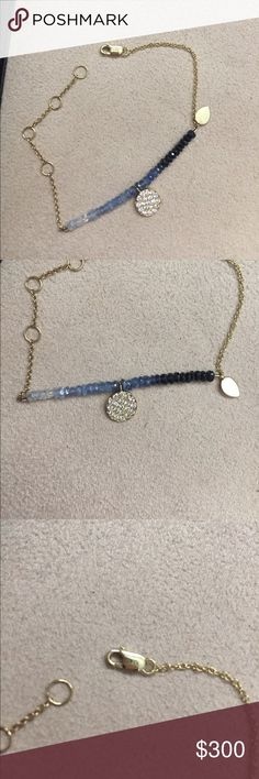 Meira t sapphire and diamond bracelet Meira t diamond and sapphire bracelet Meira T Jewelry Bracelets
