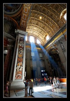Saint Peter's light, Vatican City near Rome Naples, The Places Youll Go, Places To See, Trinidad, Rome Florence, Renaissance, Religious Architecture, Vatican City, Travel Channel