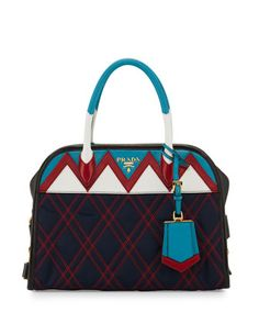 db564a1141 Tessuto Impunturato Satchel Bag by Prada at Bergdorf Goodman. Prada  Tessuto