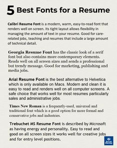 Resume Fonts, Resume Advice, Resume Writing Tips, Resume Help, Resume Skills, Job Resume, Resume Tips No Experience, College Resume, Business Resume