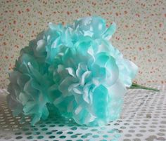 Light Mint Robin Blue Red Royal Blue Peonies 9 Head Silk Flower Wedding Decor by sophieliu2 on Etsy