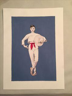 Audrey Hepburn Acryl/Aquarell Painting  Format: A3