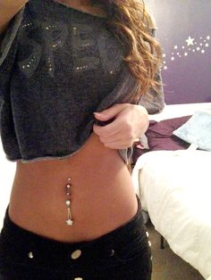 double belly button piercing LOVE LOVE LOVE <3 @jessxogray