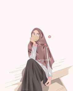 @wildarazaqna Rain Wallpapers, Cute Wallpapers, Muslim Couples, Muslim Girls, Cartoon Faces, Cartoon Art, Sarra Art, Hijab Drawing, Islamic Cartoon
