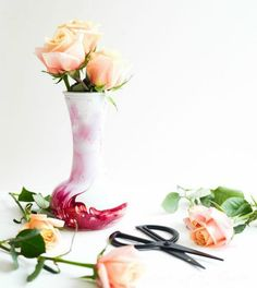 s don t throw away your old nail polish before you see these 14 ideas, Give your plain glass vase an upgrade