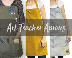 What art teacher apron are you going to choose for the new academic year. Protect your clothes with an arty looking art teacher apron. Source by catinouninette teacher outfits Art Teacher Outfits, Teacher Style, Teacher Blogs, Art Teachers, Teacher Fashion, Teacher Clothes, Stylish Eve Outfits, Business Casual Outfits, Teacher Apron