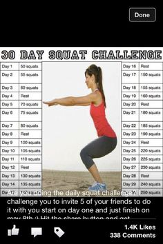 squat challenge - started this today!