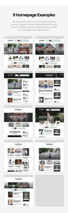 Wonderwall is a WordPress magazine/blog theme with a clean, carefuly crafted design.    It is perfect for feminine blogs and magazine websites but not limited to those categories, it can be used fo...
