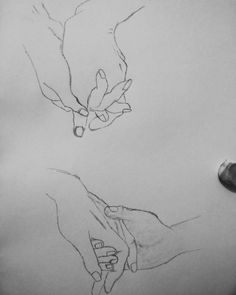 Nothing compares to you!! Hands sketch, love sketch, holding hands