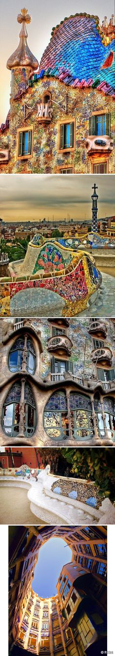 Gaudi, Spain. Favorite architect and literally can't wait to go back to see this again!!!