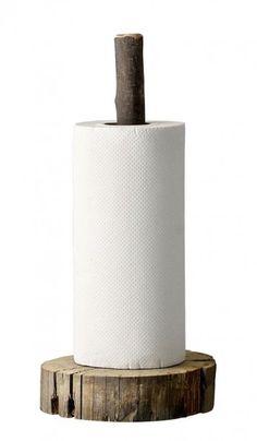 Wooden Paper Holder - Plümo Ltd Diy Wood Projects, Diy Projects To Try, Home Projects, Wood Crafts, Woodworking Projects, Paper Towel Holder, Towel Holders, Roll Holder, Log Furniture