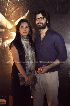 Fawad Khan is, for sure , the perfect example of a husband every woman craves for. Fawad with his wife Sadaf.