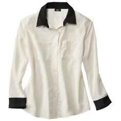 Mossimo® Women's Button Down Blouse - Assorted Colors