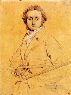Niccolo Paganini Neoclassical Jean Auguste Dominique Ingres Oil Paintings