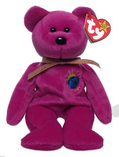 Millennium, Ty Beanie Baby bear reference information and photograph. Ty Beanie Boos, Beanie Baby Bears, Ty Toys, Kids Toys, Beanie Babies Value, Ty Babies, Babies Stuff, Princess Diana Beanie Baby, Ty Bears