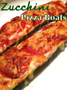 Zucchini Pizza Boats - Quick and Easy and less than 200 Calories!