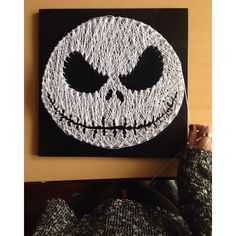 Jack Skellington string art by tiaralianna