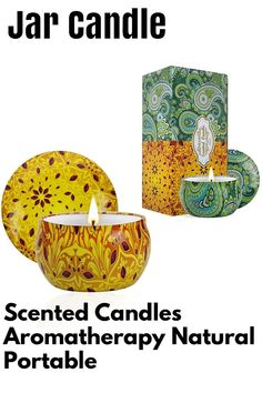 (This is an affiliate pin) 2 Pack Scented Candles, 2.5 oz Aromatherapy Candles for Home Scented, Natural Soy Candles with Floral Scents, Small Portable Travel Jar Candle Set for Spa, Bath, Yoga, Home Decor Tin Candle Pack Tin Candles, Candle Set, Scented Candles, Candle Jars, Candle Holders, Home Scents, Aromatherapy Candles, Spa, Packing